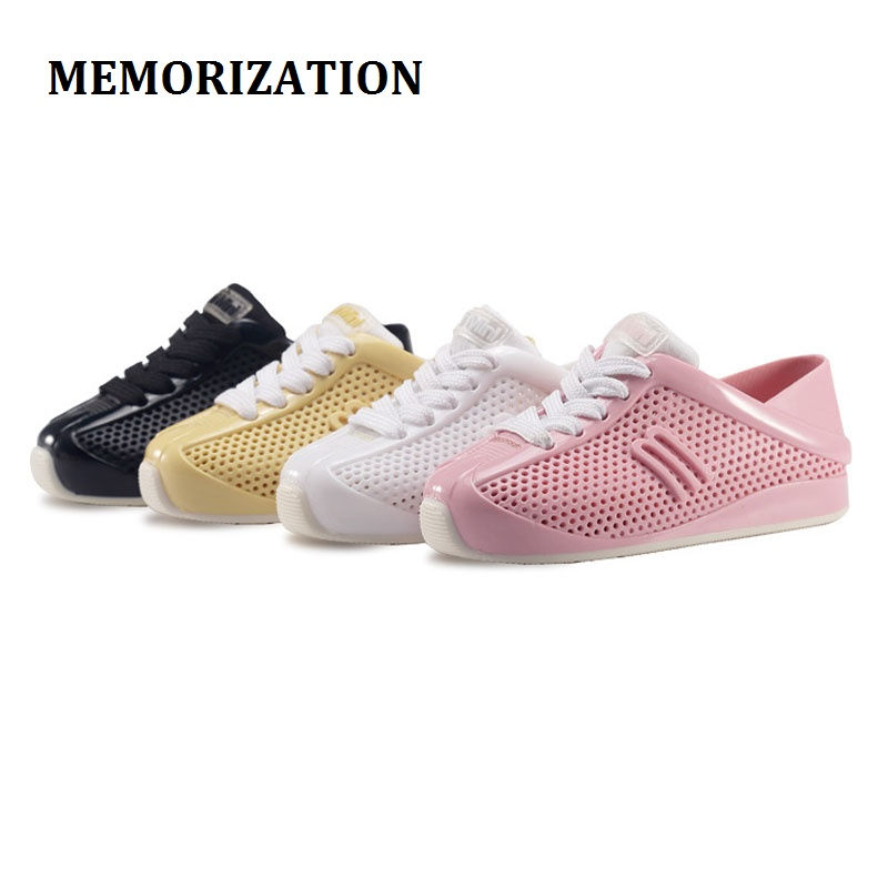 HOT 2017 NEW Mini Melissa Girls Casual Sneakers boys sport Shoes Breathable Children' S Sports jelly SANDALS KIDS SOFT SHOES new hot sale children shoes pu leather comfortable breathable running shoes kids led luminous sneakers girls white black pink
