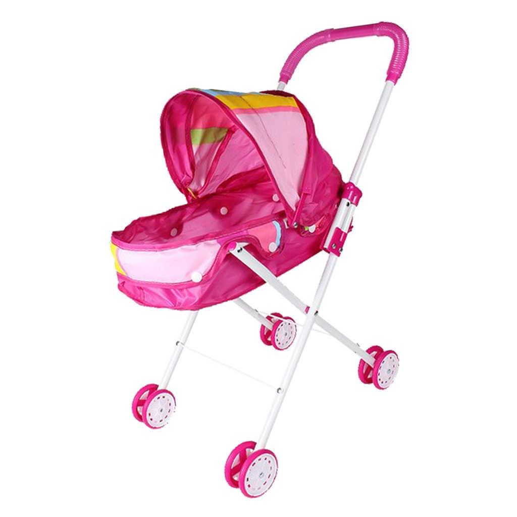 Кукольный домик детская мебель игрушки мини Детская кукла коляска/коляска с бесплатной коляской детские игрушки для ролевых игр