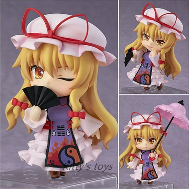 "Japanese Anime Figures Nendoroid #442 Touhou Project Yakumo Yukari PVC Action Figure Doll Collctible Model Toy 4""10cm Brinquedos"