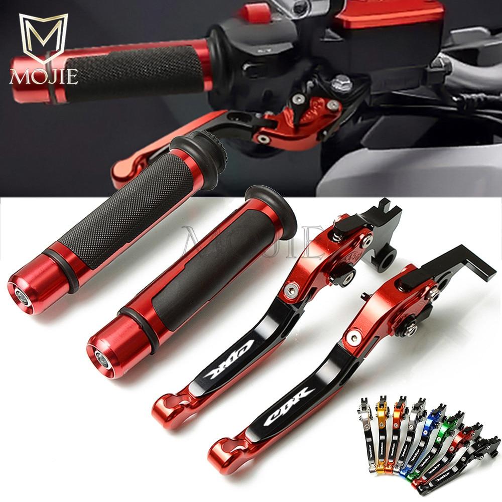 Motorcycle CNC Adjustable Foldable Brake Clutch Lever Handle Hand Grips Set For Honda CBR1100XX BLACKBIRD CBR