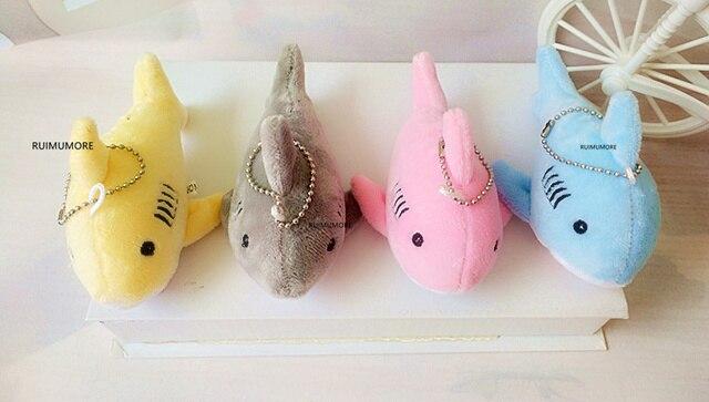12 CM, brelok na prezent Shark pluszowe wypełnione zabawki lalki, dziecięcy mały mały pluszak zabawki