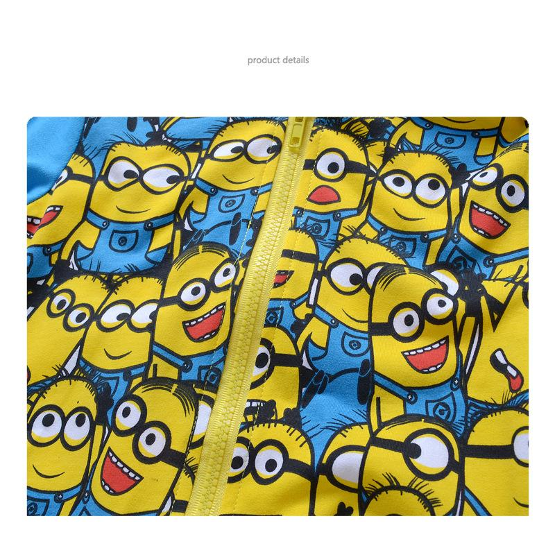 fba05c6d0 New Arrival Minions despicable me Boys Clothes Spring Autumn Hoodie ...