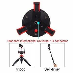 Image 4 - بولوز الإلكترونية 360 درجة دوران بانورامية ترايبود رئيس الدورية عموم رئيس و تحكم عن بعد ل GoPro الهاتف الذكي DSLR (أحمر)