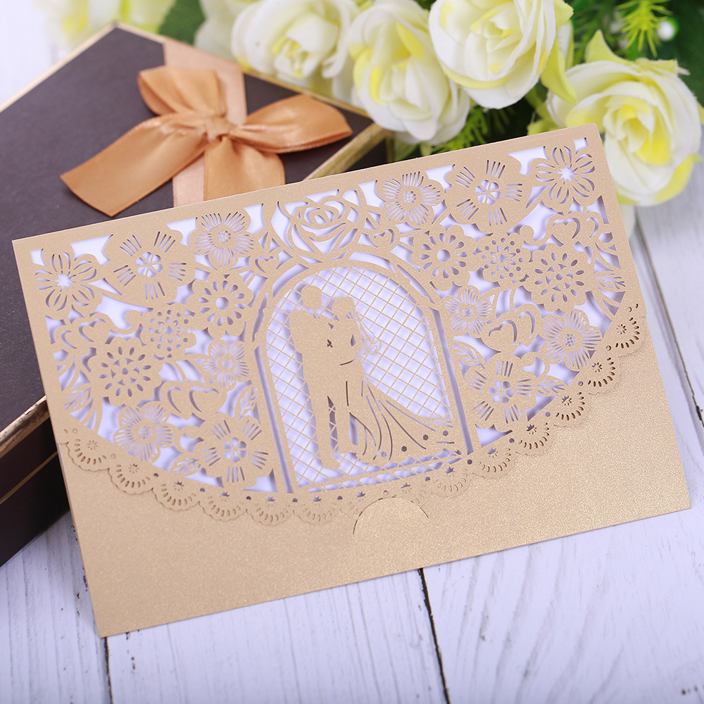 Segnaposto Matrimonio Aliexpress.Eleva Romantic Mr Mrs Wedding Invitation Cards 2018 Creative Lace