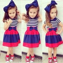 3pcs Children Baby Girls Outfits Headband+Striped Shirt+Striped Tutu Skirt Kids Clothes Dress