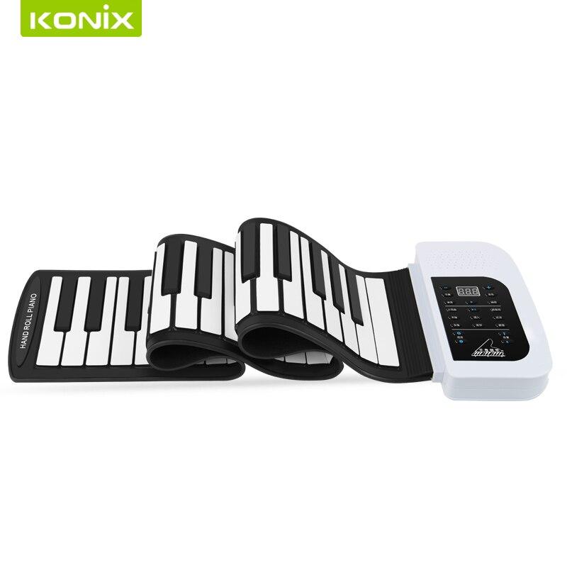 88 kláves Flexibilní silikonový klavír s klávesnicí MIDI a reproduktory