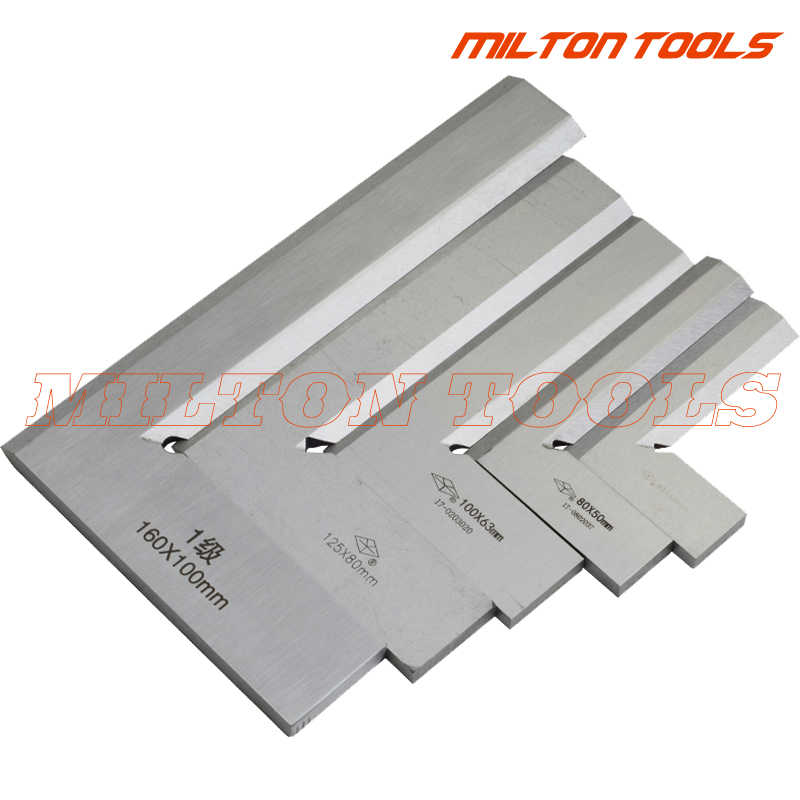80*50mm 125*80mm 160*100mm 200*125mm Bladed 90 Degree Angle Try Square ruler Broadside Knife-Shaped Angle Blade Ruler Gauge tool