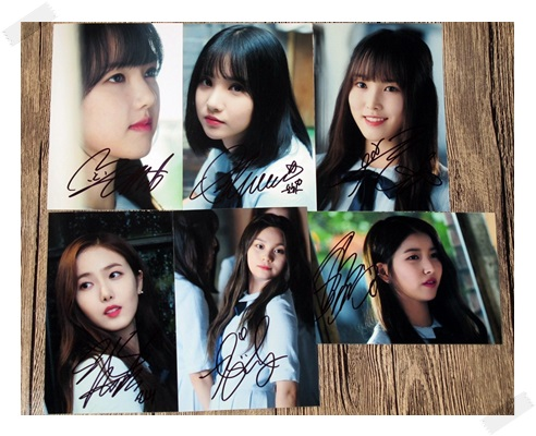 signed GFRIEND autographed group photo RAINBOW K-POP  6 inches free shipping 102017B signed gfriend jung eun bi autographed photo rainbow 6 inches freeshipping 2 versions 102017