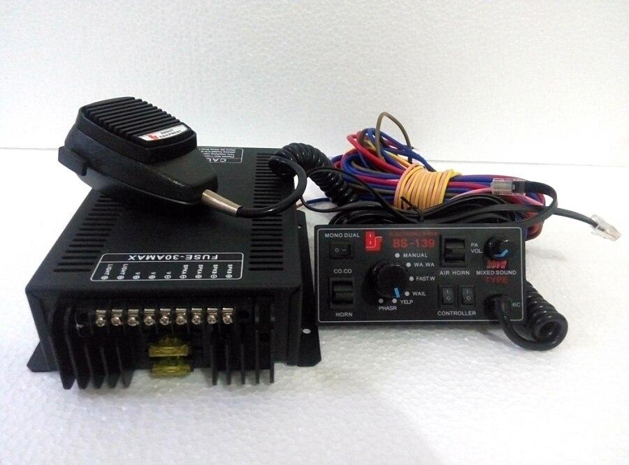 Высокая мощность 200 Вт DC12V Автосигнализация pa система усилитель с панелью управления с микрофоном, функция регулировки громкости (без динамика)