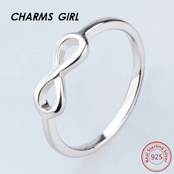 Charms girl ring for women simple endless shape ring 925 sterling silver engagement ring trendy wedding.jpg 250x250