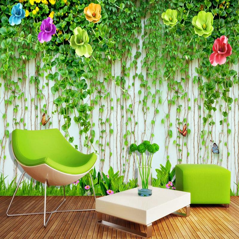 Custom Any Size 3D Wall Mural Wallpaper Beautiful Flower Vine Photo Painting Fresco Living Room Restaurant Background Wall Decor