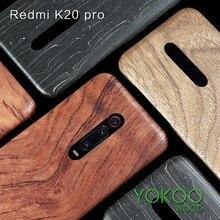 Dla Xiaomi 9T /9T Pro /K30/K20/ k20 Pro mi 10 Pro orzech Enony drewno bambusowe palisander mahoń drewniany powrót skrzynki pokrywa