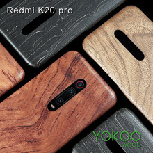 For Xiaomi 9T /9T Pro /K30/K20/ k20 Pro mi 10 Pro  walnut Enony Bamboo Wood Rosewood MAHOGANY Wooden Back Case Cover