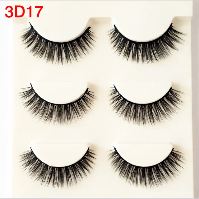 3pairslot 3d Natural Volume False Eyelashes Russian Style Sexy