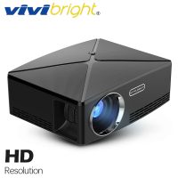 VIVIBRIGHT LED Projector C80. 1280x720 Video Projector, Support 1080P 3D, HD Home theater HDMI cable, connect computer TV box