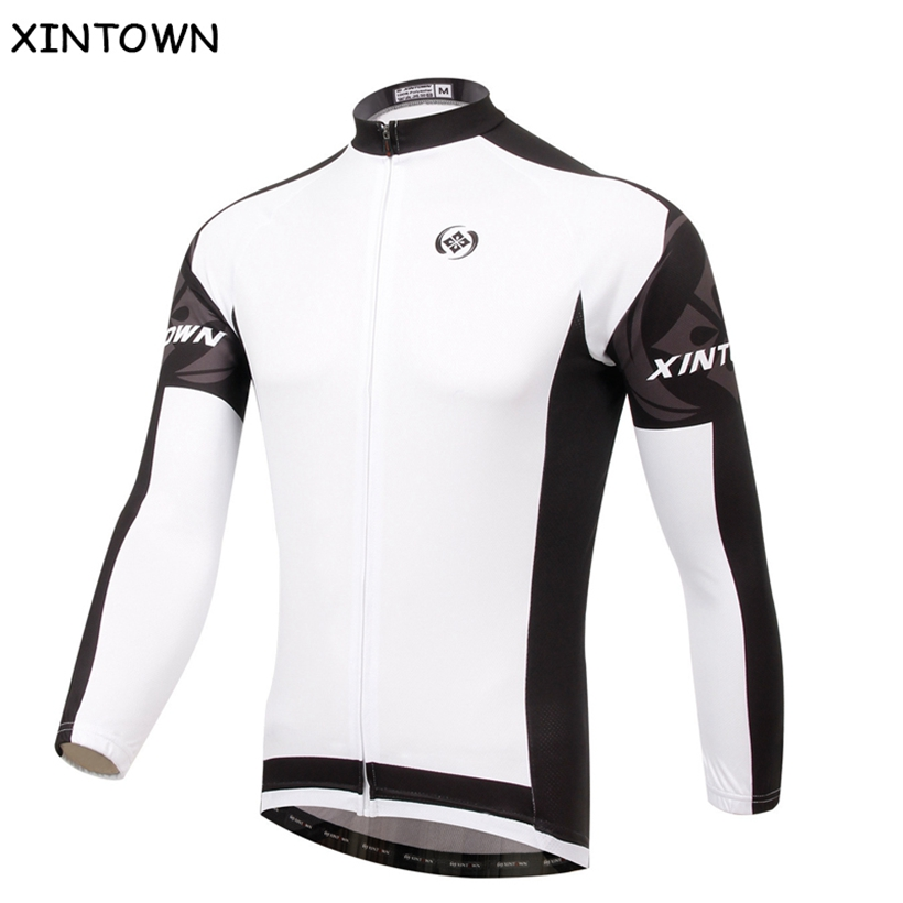 XINTOWN White Cycling Jersey Mountain Bike Long Sleeve Clothing /Jacket/Sport Riding Racing Clothes Bicycle Wear Ropa ciclismo