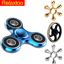 Metal Hand Spinner Tri Spinner EDC Fidget Toy For Autism and ADHD Anti Stress Finger Toys
