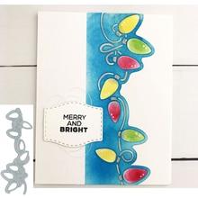 Festival String Lights Shape Metal Cutting Dies Stencil Scrapbook Album Embossing For Gift Card Making Handcrafts Decor о германии кратко deutschland im uberblick