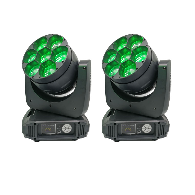 2pcs/lot Moving Head Zoom Dmx 7x40w RGBW 4in1 Zoom Led Mini Beam Wash Moving Heads Stage Light