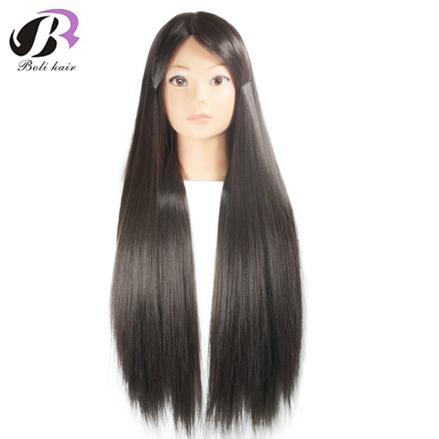 26 Mannequin Head Hair Yaki Synthetic Maniqui Hairdressing Doll Heads Cosmetology Women Hairdresser