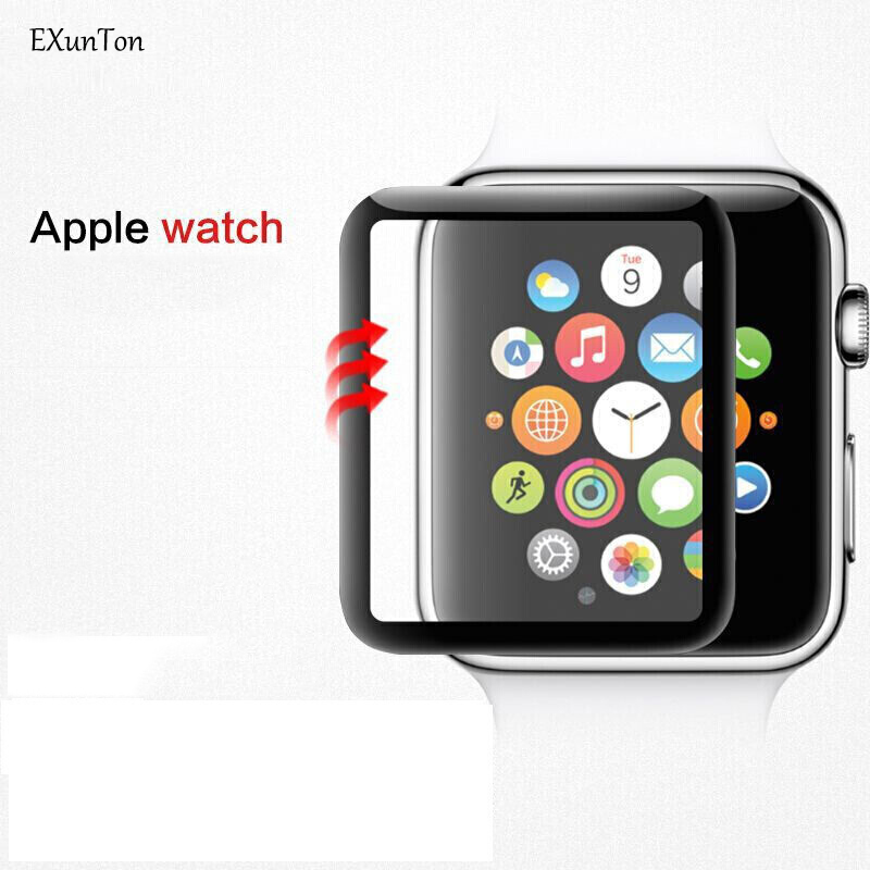3D Full Glue Curved Edge Tempered Glass For Apple Watch Series 1 2 3 4 44mm 42mm 40mm 38mm Screen Protector Pelicula de vidro image