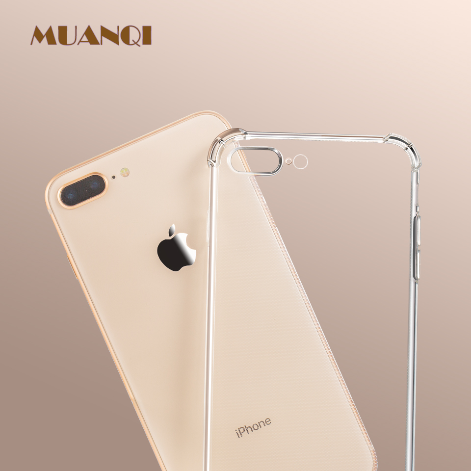 Luxury Anti-knock Shockproof Transparent Silicone Phone Case For Iphone X XS XR XS MAX 6 7 8 6S Plus Clear Soft Cover Cases