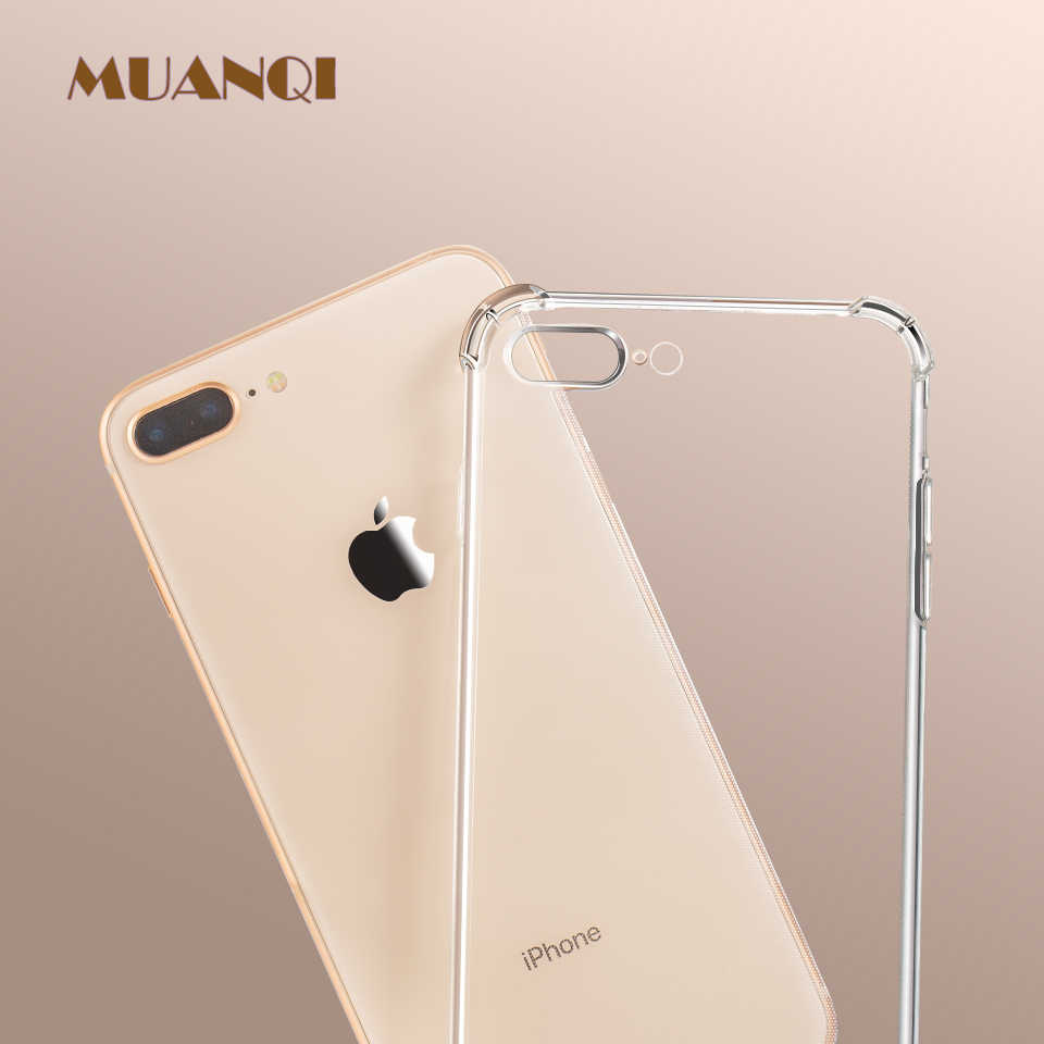 Luxe Anti-Klop Shockproof Transparant Siliconen Telefoon Case Voor Iphone X Xs Xr Xs Max 6 7 8 6S Plus Clear Soft Cover Gevallen