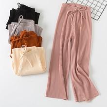 Bigsweety Fashion Harajuku Ankle-Length Pants Women Wide