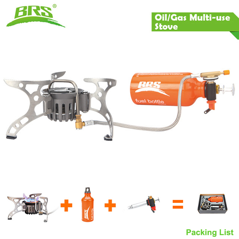 BRS-8 Outdoor Stove Portable Oil Stove Gas Burners Multi Fuel Camping Cooking Stove Campfire For Backpacking Picnic Hiking BBQ