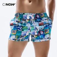Pantalones Cortos de los hombres impreso y rayas de Secado rápido Pantalones Cortos de Playa de la Playa Del Verano Pantalones Cortos de moda 2 Opción Del Color