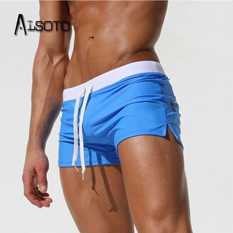 ALSOTO 2019 Summer Swimwear Men Swimsuit Maillot De Bain Boy Suits Boxer Shorts