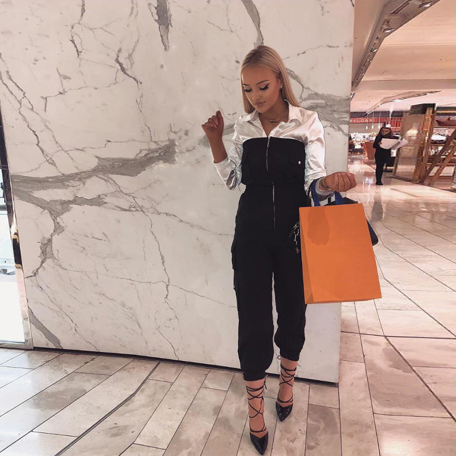 Macheda Sexy Backless Off Shoulder Zipper Black   Jumpsuit   Women High Waist   Jumpsuit   Romper Female Casual Overall Femme New