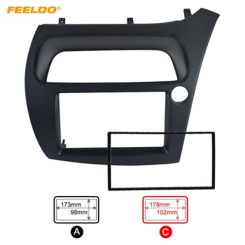 FEELDO Auto DVD/CD Radio Stereo Lateipaneel Frame Adapter Fitting Kit Voor Honda CIVIC Europa 06 ~ 11 (RHD)