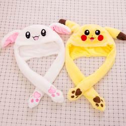 Теплый животных Кепки кролик стежка Жираф милый мультфильм плюшевые шляпу наушники с длинный шарф перчатки для Для женщин Для мужчин