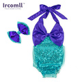 2Pcs Sequins Baby Girl Lace Romper Spaghetti Straps Clothing Sets Jump suit Playsuit Outfit For Girls 0-3 Years old