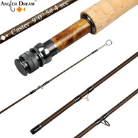 3/5/8 WT 8'4'' / 9FT Fly Rod Medium Fast 30T Carbon Fiber Fly Fishing Rod with Burl Wood Reel Seat