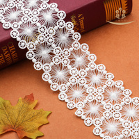 15yards 75MM White Sewing Lace Ribbon DIY Decorative Beautiful Handcrafted Embroidered Lace Trim Fabric