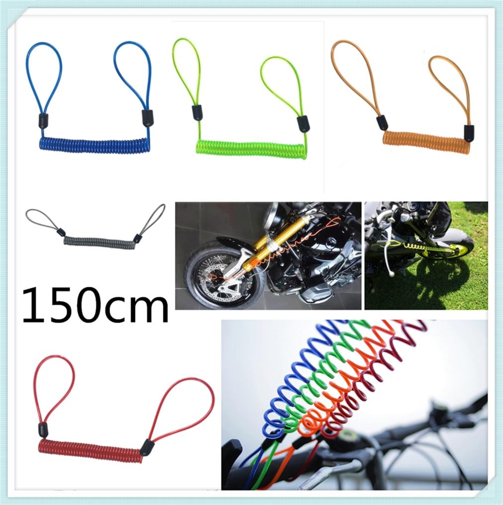 150cm Motorcycle Burglar Alarm Reminder Rope Spring Pull Wire For YAMAHA YZF 600R Thundercat R1 R6 R25 R3 FZ1 FAZER FZS 1000S
