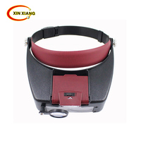 New Wearing Magnifier MG81007 A 10 X Magnifying Glass 3Lens Loupe With LED Light Jewel Repair