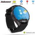 ASKMEER KW88 Android 5.1 Smart Watch Phone MTK6580 CPU 1.39 inch 400*400 Screen 2.0MP camera smartwatch for apple moto huawei