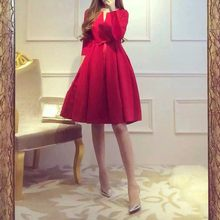 Big size women's dress fat mm trim dress slight fat autumn and winter wear age-reducing fat sister apparent(China)