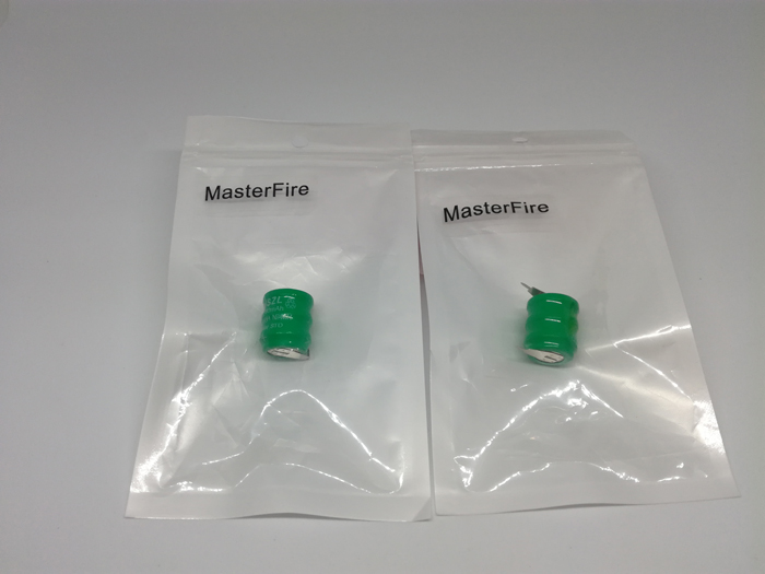 60pcs lot MasterFire 3 6V 80mAh NI MH rechargeable battery button nimh cell coin cell batteries