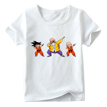 2019 Children Japanese Anime Dragon Ball Z Dabbing Goku T Shirt Baby Boys/Girls Summer Funny Top Shirts Kids Casual Clothes
