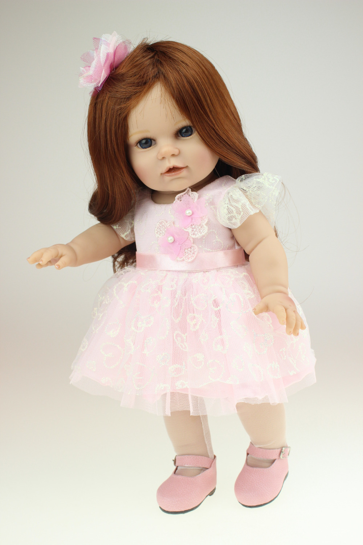 40Cm Silicone Reborn Babies Dolls Cute Boneca American -9573