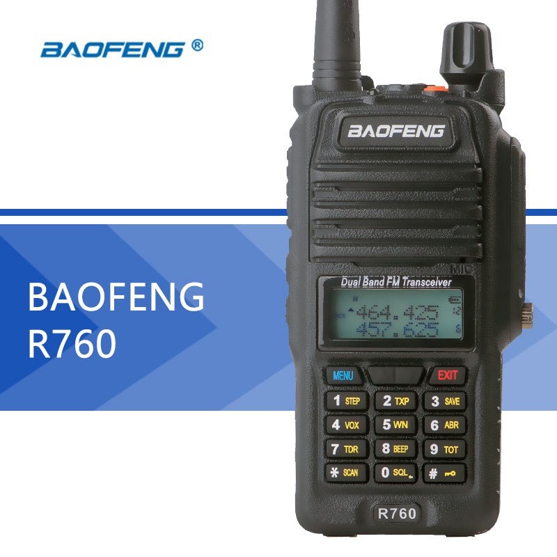 Baofeng BF R760 walkie talkie waterproof portable CB radio LCD display Dual Frequency profession Walkie Talkie