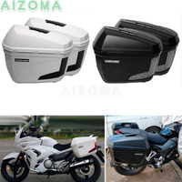 Motorcycle Side Cases Racks Sidecases 2x 23L Luggage Pannier Cargo Rear Box Universal For Ducati Scrambler BMW R1200GS R1150GS