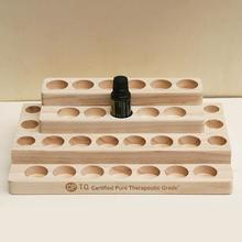 Desktop Storage Rack 30-Hole Stepped 4-Layer Wooden Shelf Essential Oil Box