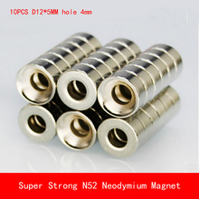Wholesale 10pcs Round Countersunk Ring N52 Magnet 12mmx5mm Hole 4mm Rare Earth Neodymium 12*5mm Hot sale