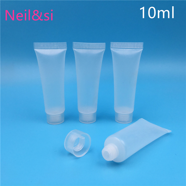 10g/ml Plastic Cosmetic Facial Cleanser Bottles Hand Cream Shampoo Squeeze Packaging Container Hosepipe