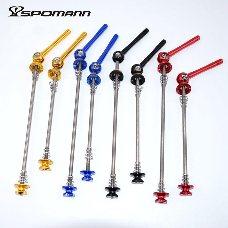 Spomann Titanium Axis MTB Quick Release Level Ultralehký 48g / pár - Cyklistika